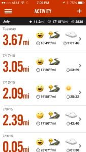 Total lifetime miles logged on Nike run? 449.5. Damn proud.